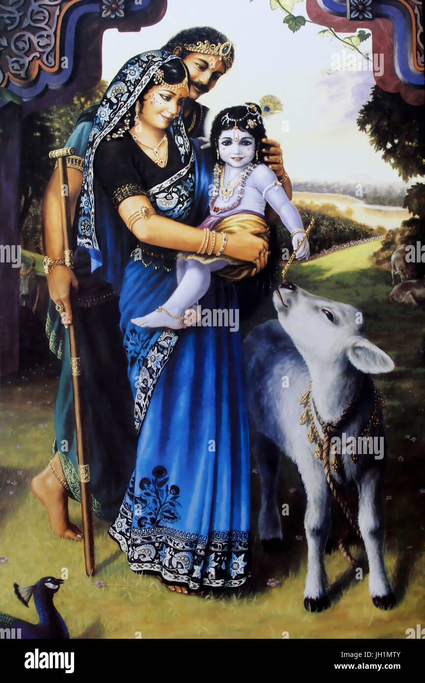 Baby Krishna High Resolution Stock Photography And Images Alamy