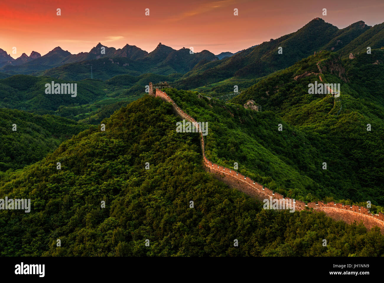 Great wall of China - Stock Image