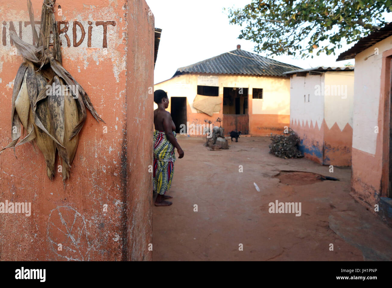 Voodoo convent. Togoville, Togo. Stock Photo