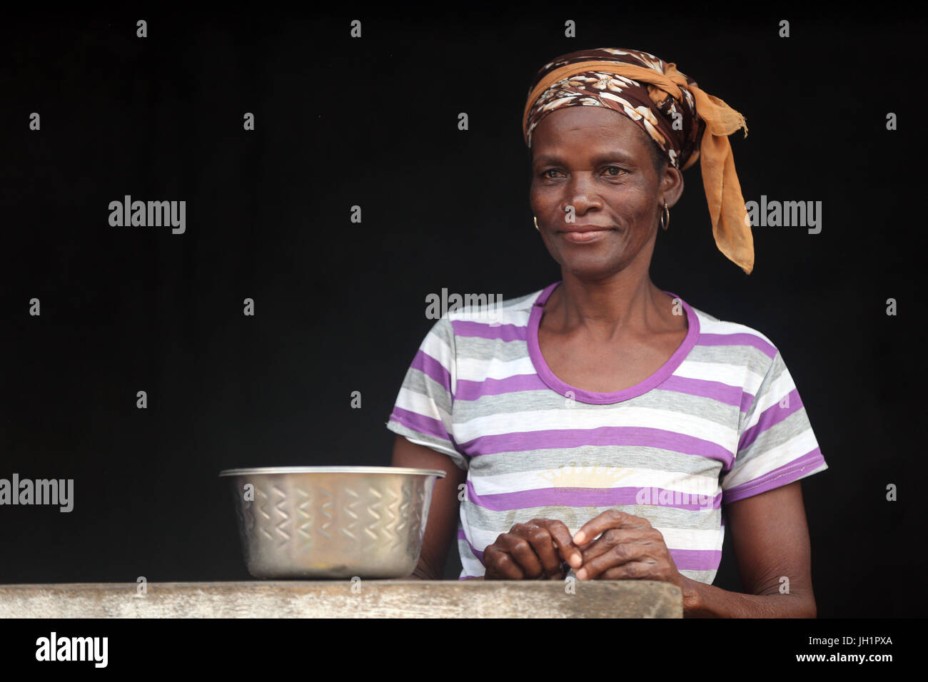 African woman. Portrait. Togo. - Stock Image