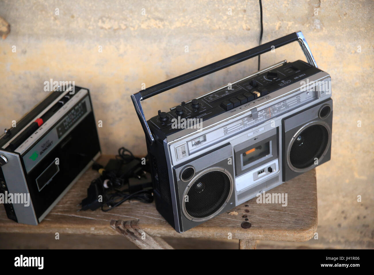 Old portable radios. Lome. Togo. - Stock Image