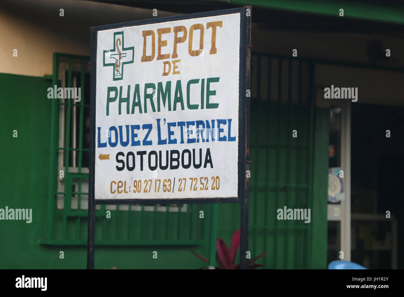 Africa. Pharmacy. Togo. - Stock Image