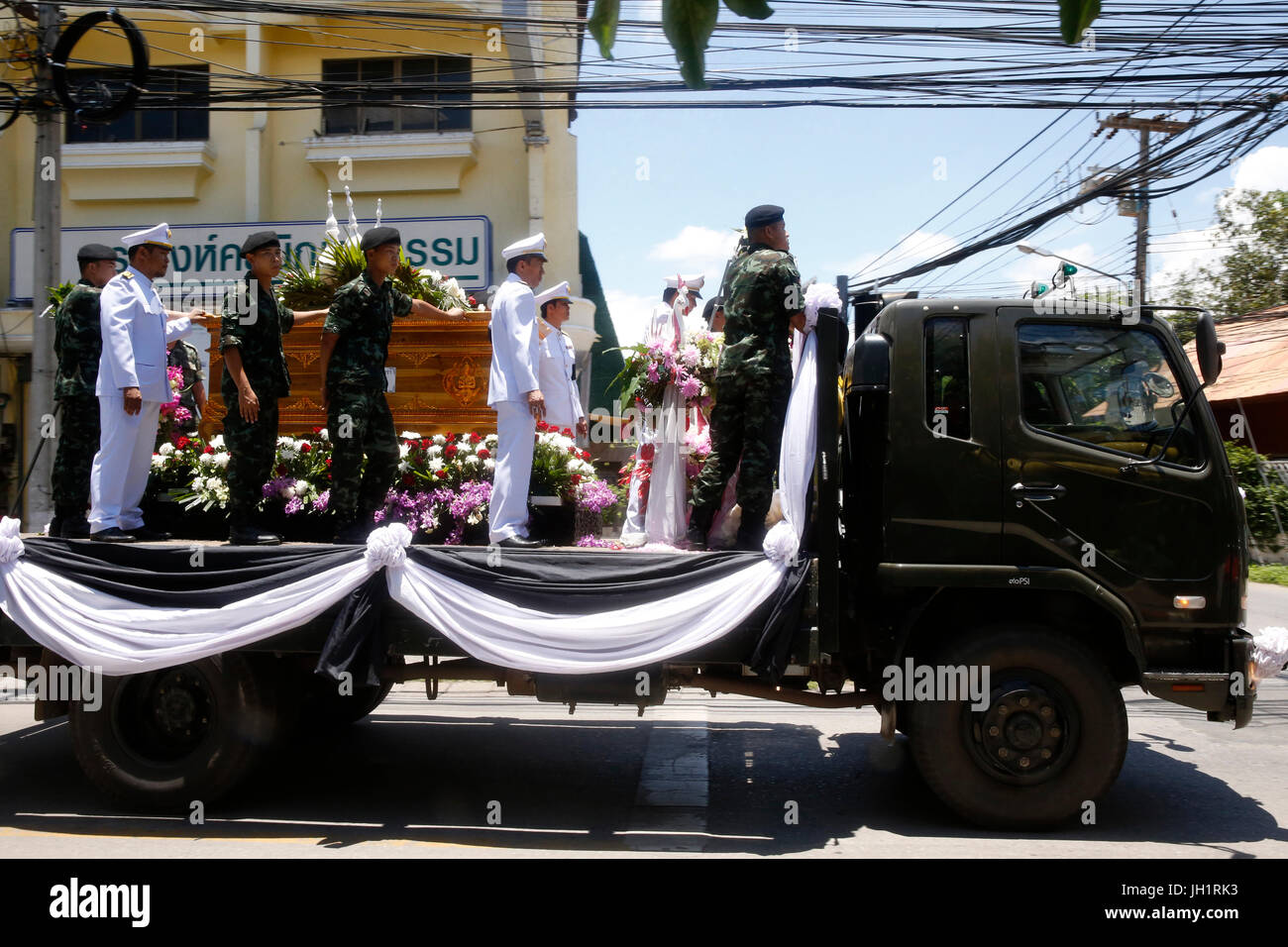 Military funeral. Thailand. - Stock Image