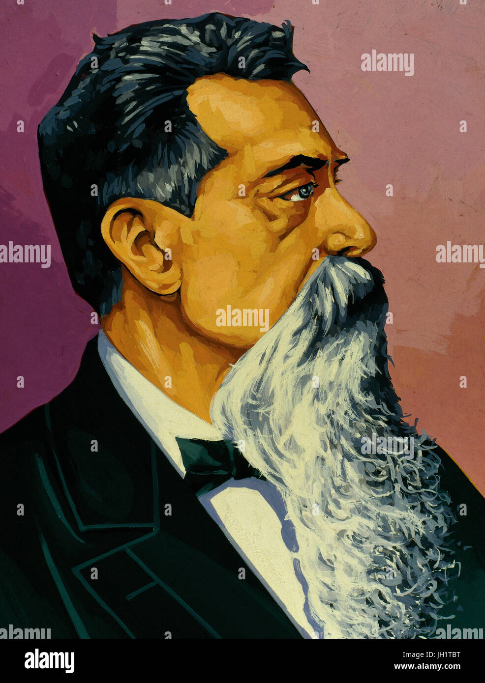 Leandro Nicephorus Alem (1842-1896). Argentinian politician. Head of the Revolution of 1890 that demolished the - Stock Image