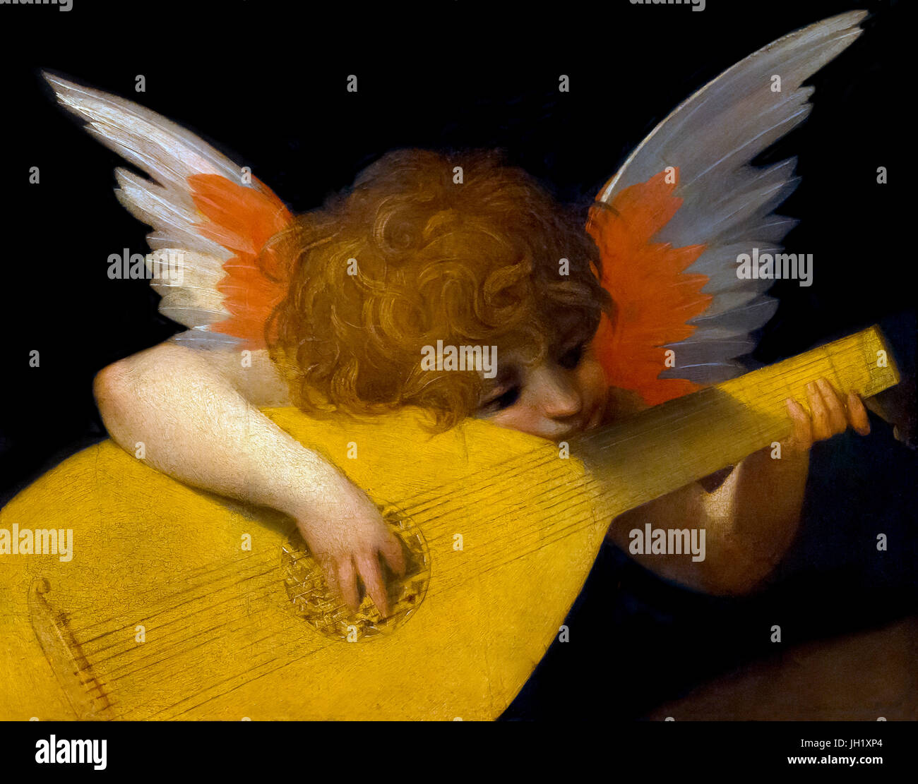Musical Angel, by Rosso Fiorentino, 1521, Uffizi Gallery, Florence, Tuscany, Italy, Europe - Stock Image
