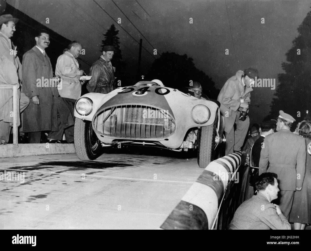 Nash Healey at 1953 Mille Miglia - Stock Image