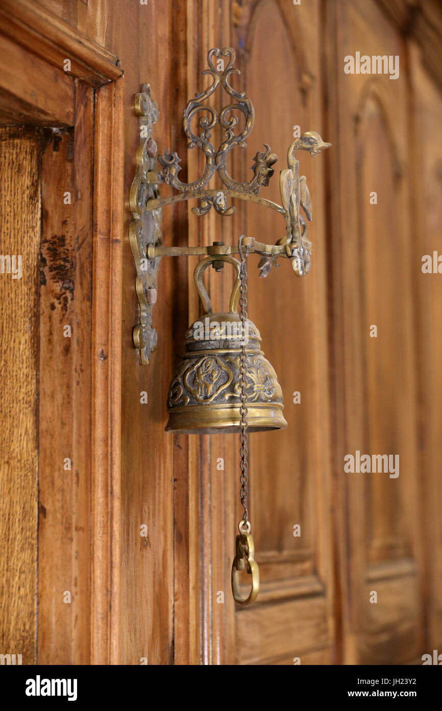 Restoration of Saint Gervais baroque church. Bell.  France. - Stock Image