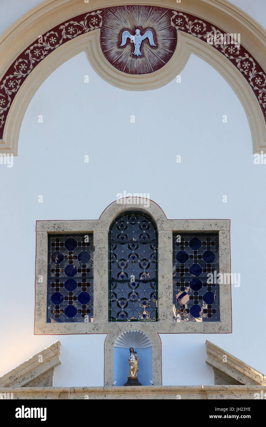 Restoration of Saint Gervais baroque church.  Facade after renovation.  France. - Stock Image