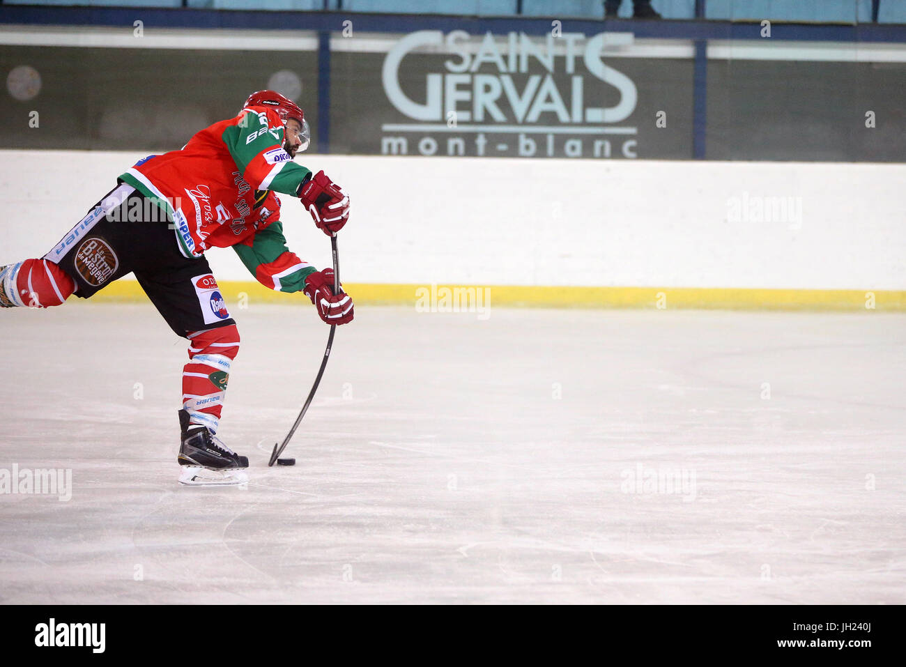 Ice Hockey match.  Player in action. France. - Stock Image