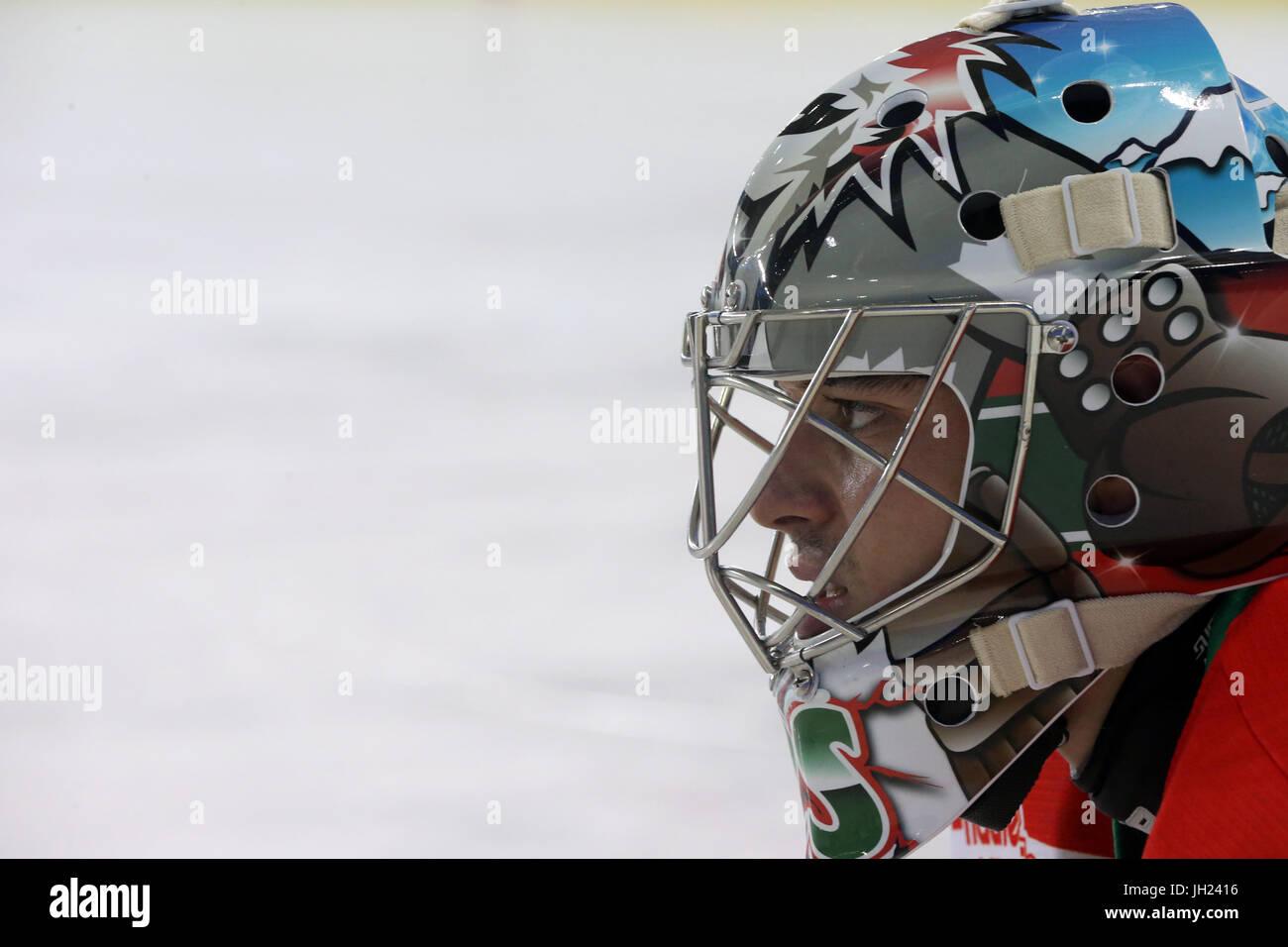 Ice Hockey match.  France. - Stock Image