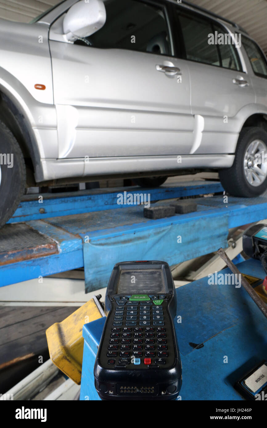 Vehicle test (compulsory technical check).  France. - Stock Image