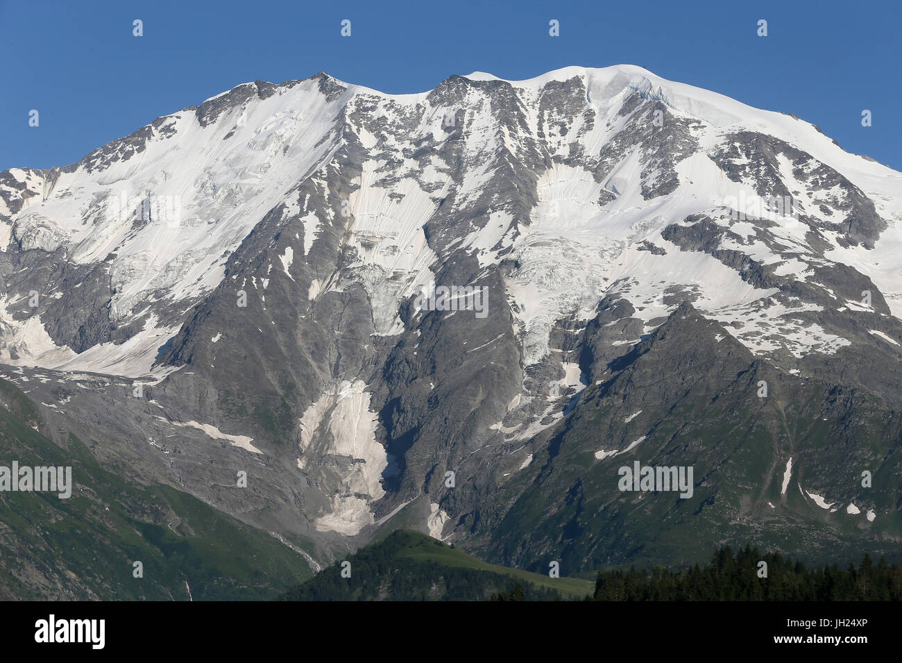 French Alps. Mont Blanc Massif.  France. - Stock Image