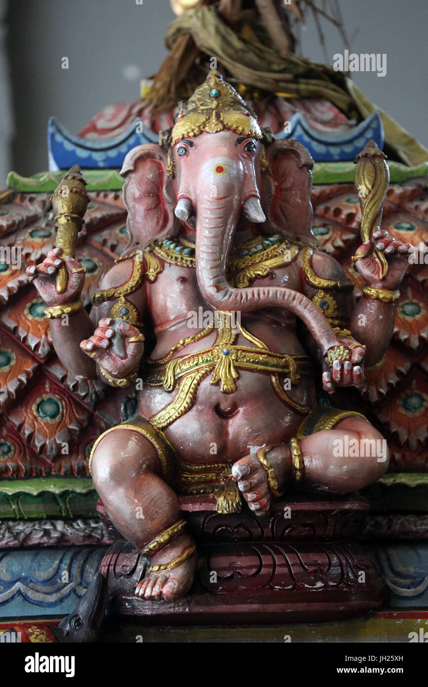 Sri Thendayuthapani Hindu Temple (Chettiars' Temple).  Ganesha also known as Ganapati and Vinayaka, is one of - Stock Image