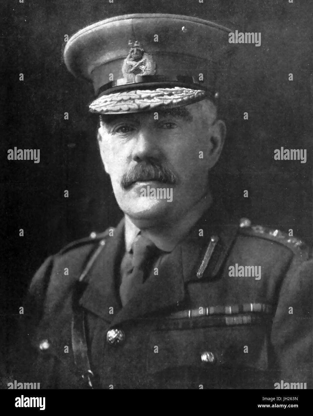WILLIAM ROBERTSON (1860-1933) British Army officer as Chief of the Imperial General Staff - Stock Image