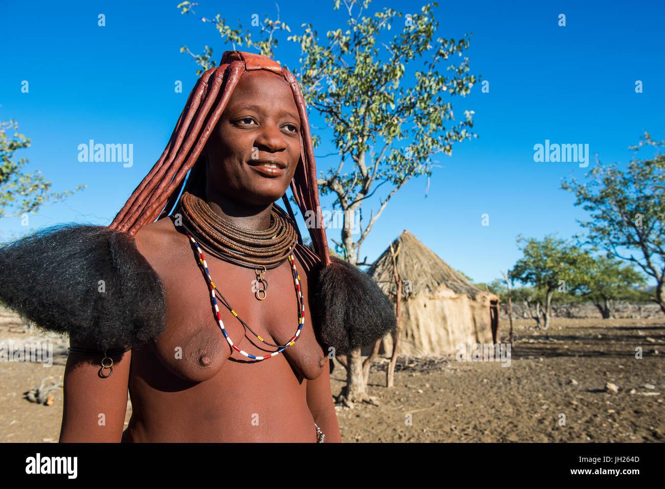 Himba woman, Sesriem, Kaokoveld, Namibia, Africa - Stock Image