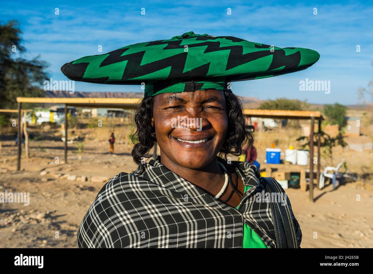 Herero woman, Ovapu, Kaokoland, Namibia, Africa - Stock Image