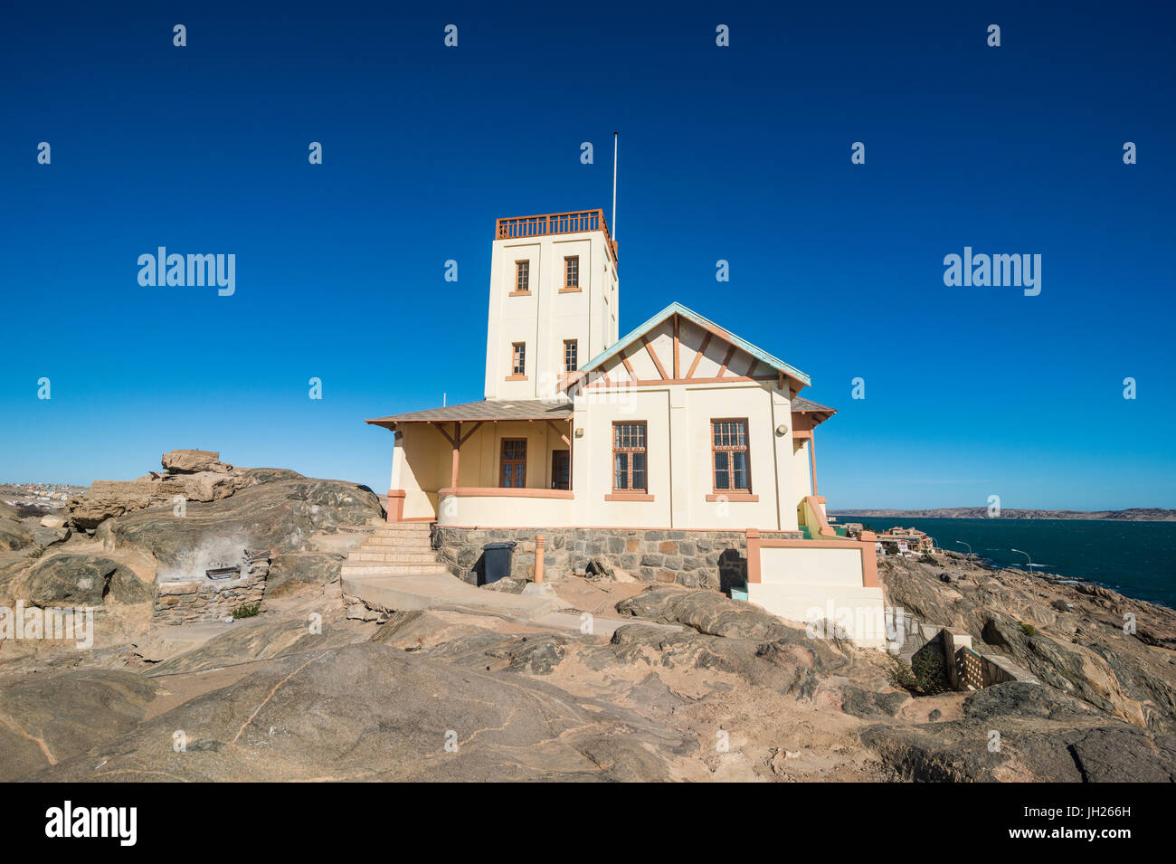Old Lighthouse in Luderitz, Namibia, Africa - Stock Image