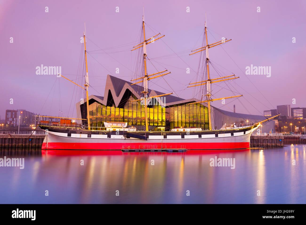 The Glenlee Ship and Riverside Museum, Glasgow, Scotland, United Kingdom, Europe - Stock Image