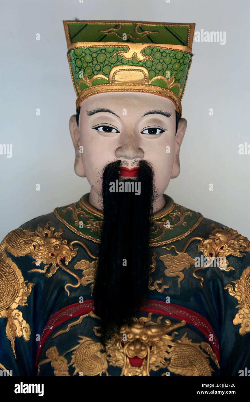 Thian Hock Keng Temple.   Qie Lan Pu Sa ( Bodhisattva Sangharama ).  Singapore. - Stock Image