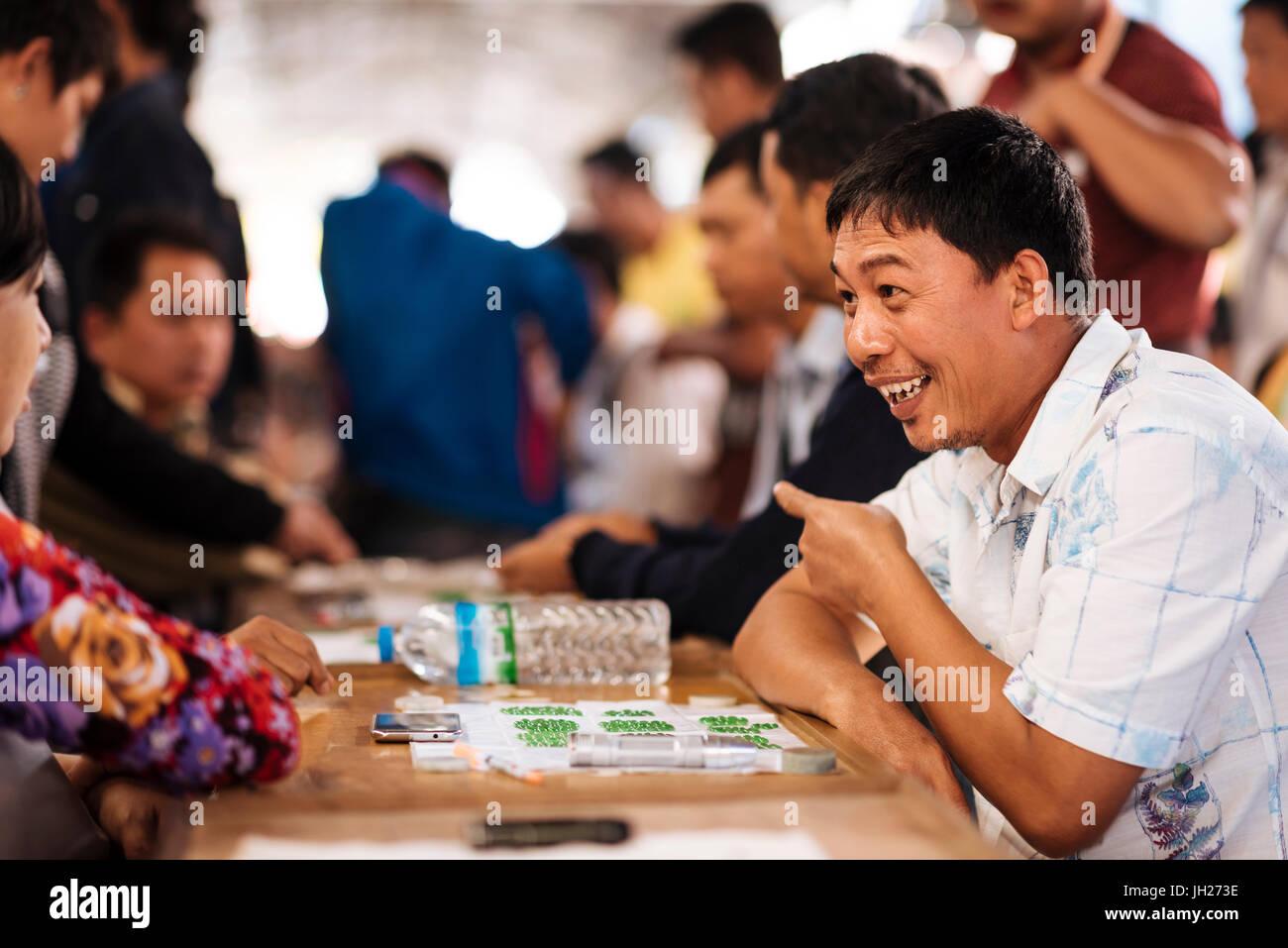 Jade Market, Mandalay, Mandalay Region, Myanmar (Burma), Asia - Stock Image