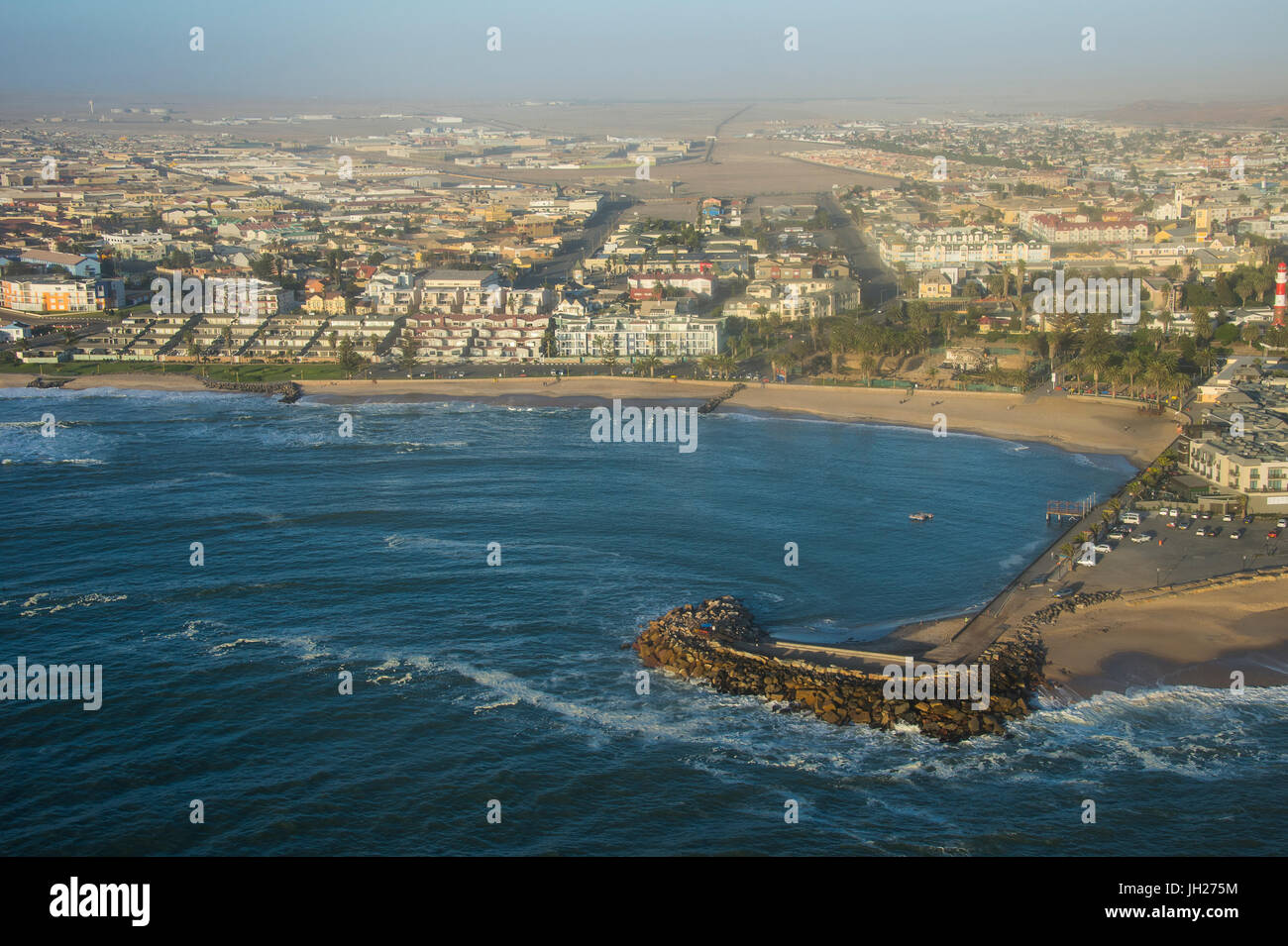 Aerial of Swakopmund, Namibia, Africa Stock Photo