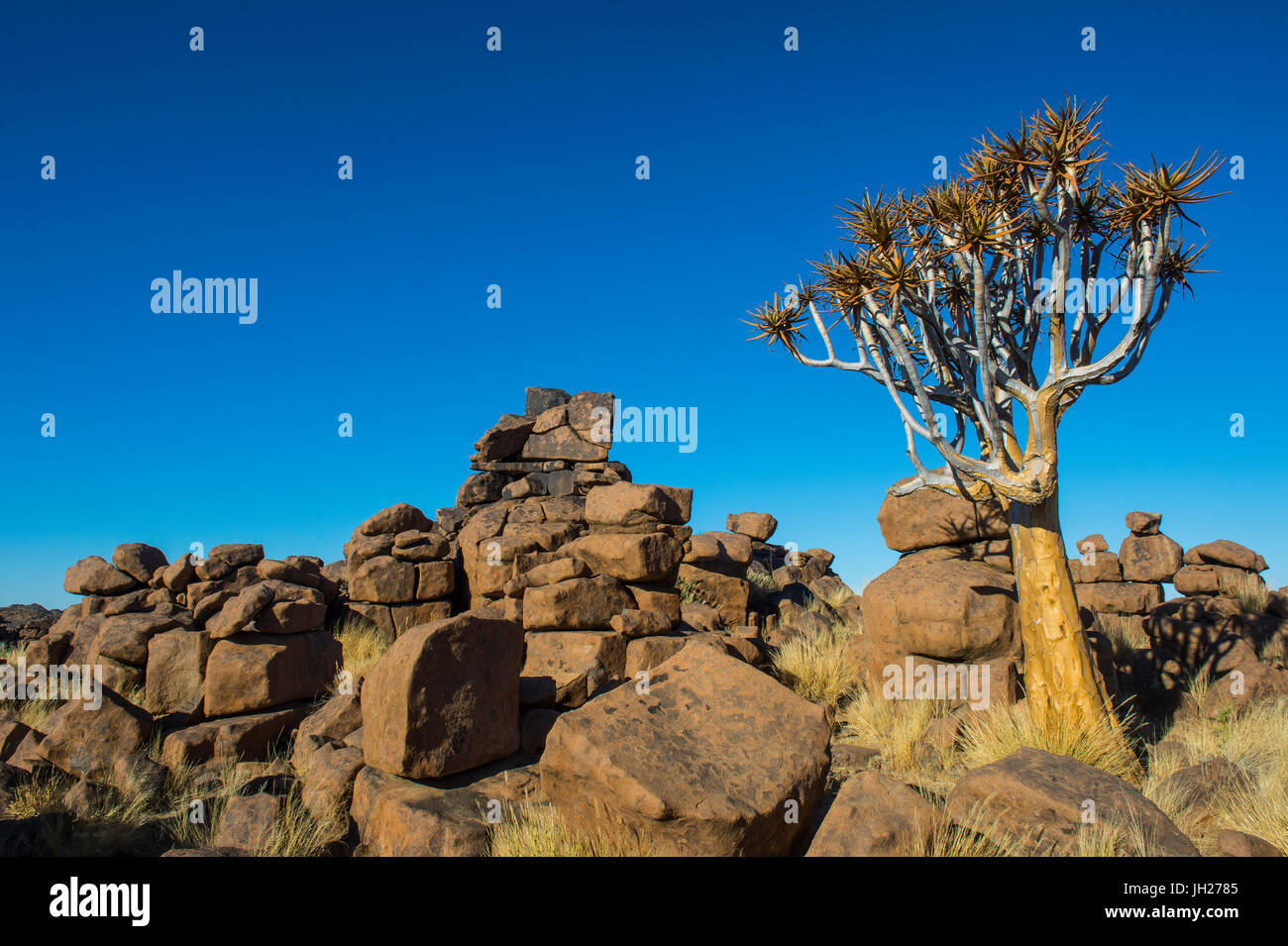 Unusual rock formations, Giant's Playground, Keetmanshoop, Namibia, Africa - Stock Image