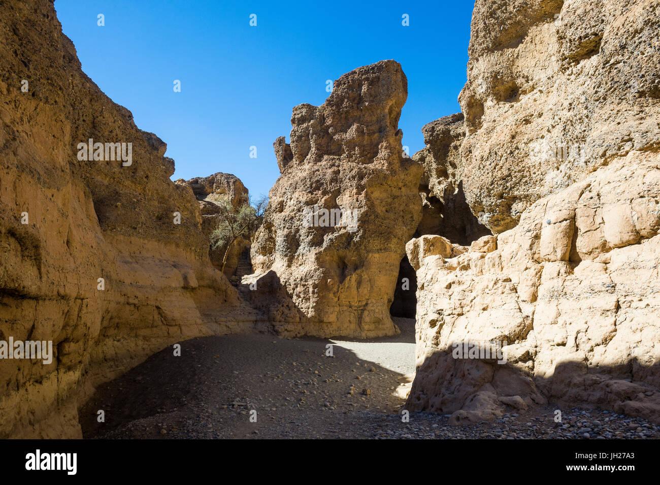 Sesriem Canyon, Namib-Naukluft National Park, Namibia, Africa - Stock Image