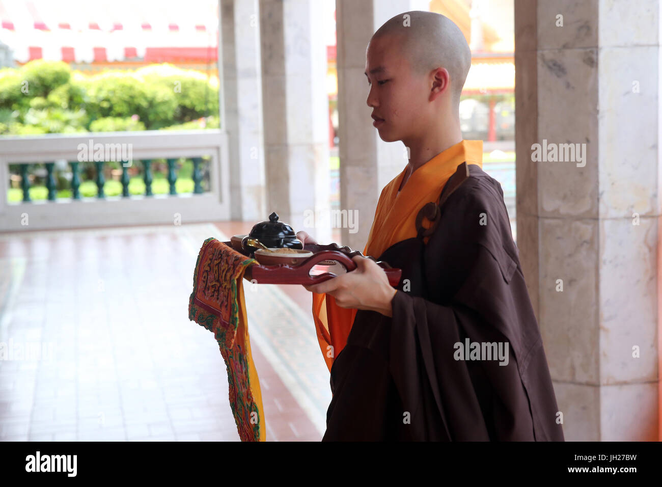 Kong Meng San Phor Kark See Monastery.  Liberation Rite of Water and Land. Buddhist ceremony.  Singapore. - Stock Image