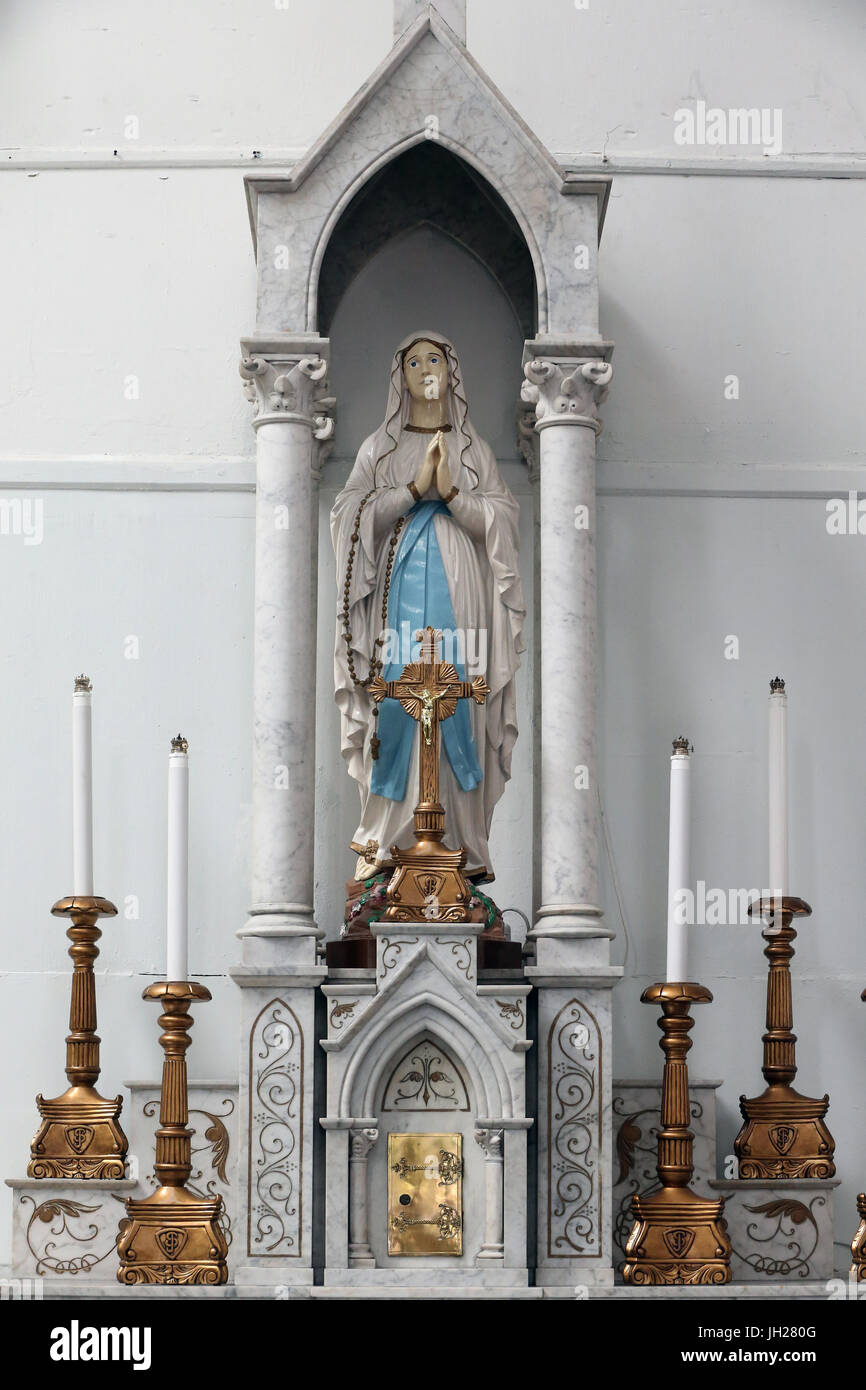 St Joseph's church. Our Lady of sorrows.  Singapore. Stock Photo