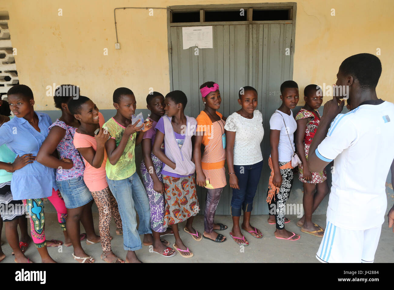Primary school in Africa. Schoolkids.  Lome. Togo. Stock Photo