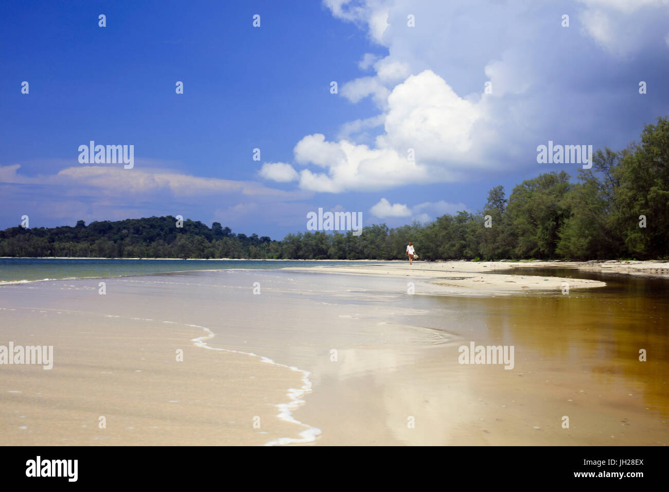 Beach in Ream National Park, Sihanoukville, Cambodia, Indochina, Southeast Asia, Asia - Stock Image