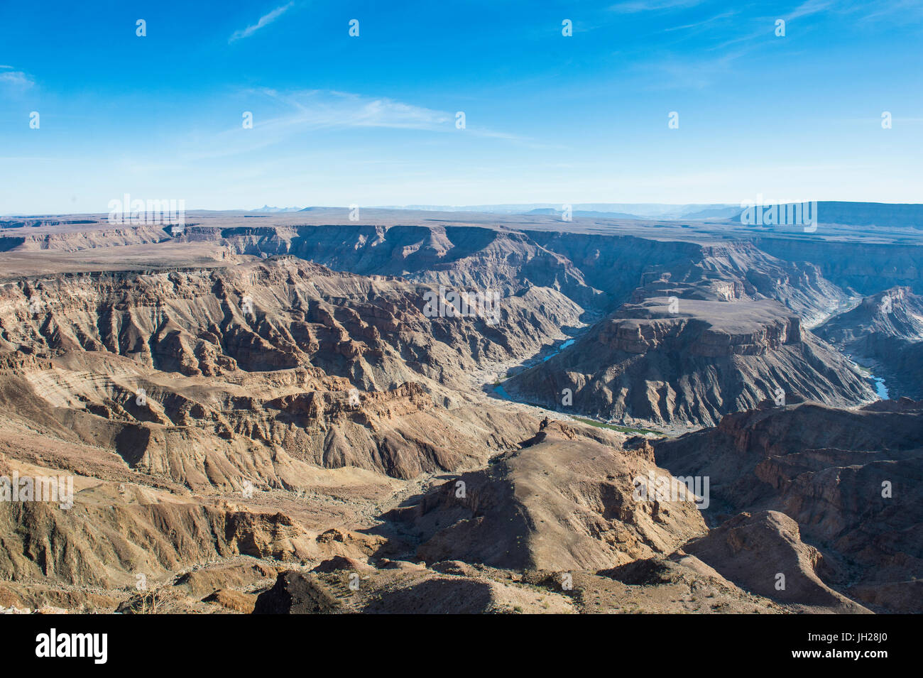 View over the Fish River Canyon, Namibia, Africa - Stock Image