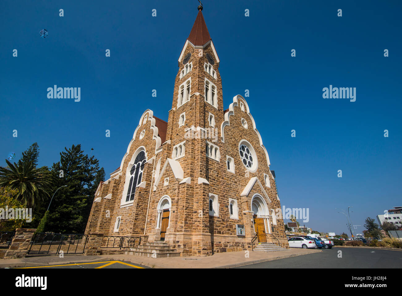 Lutheran Christ Church, Windhoek, Namibia, Africa - Stock Image