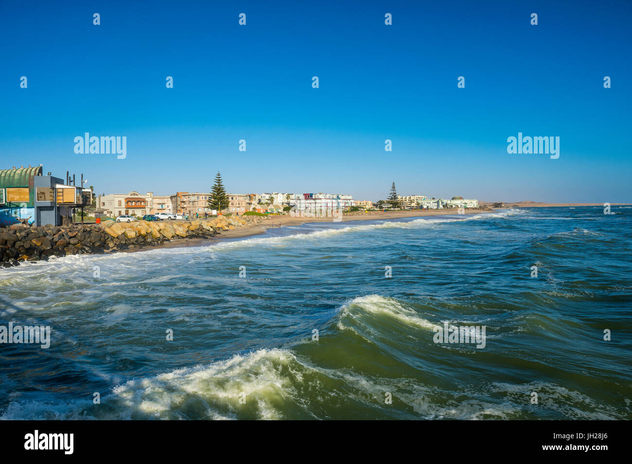 Beachfront of Swakopmund, Namibia, Africa - Stock Image