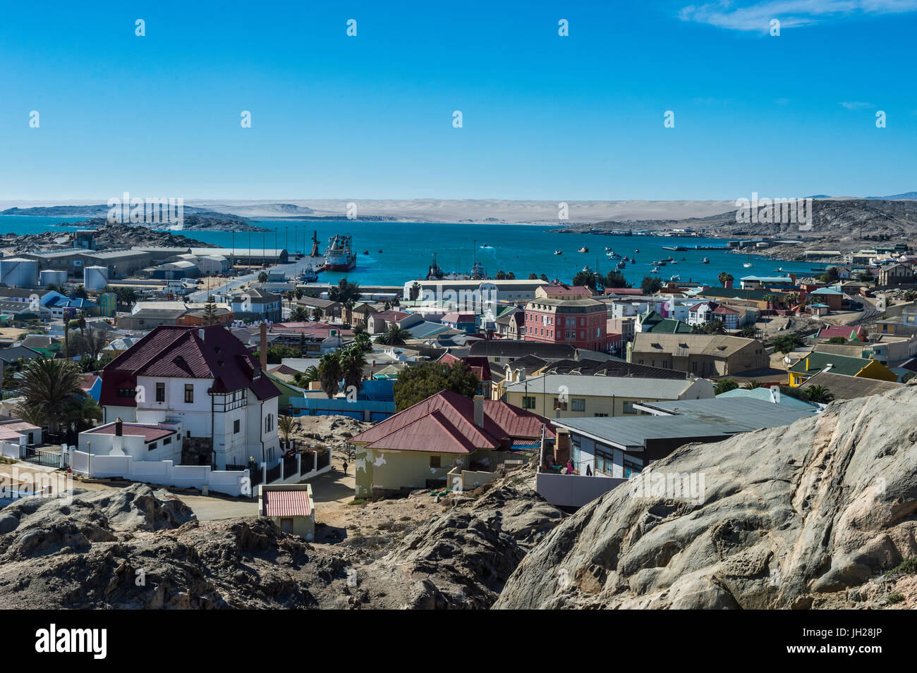 View over Luderitz, Namibia, Africa - Stock Image