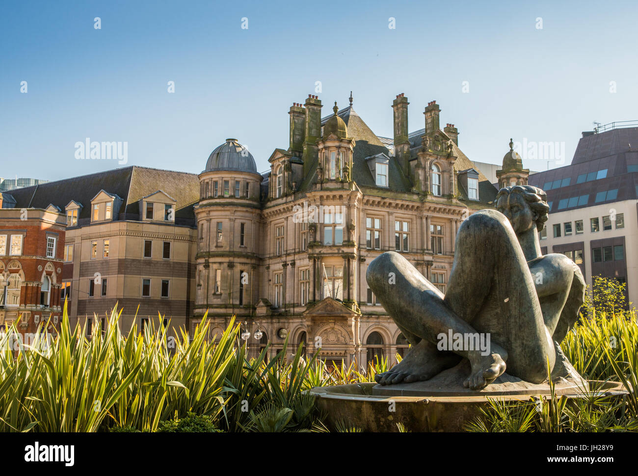 Victoria Square, a pedestrianised public square in Birmingham, England, United Kingdom, Europe - Stock Image