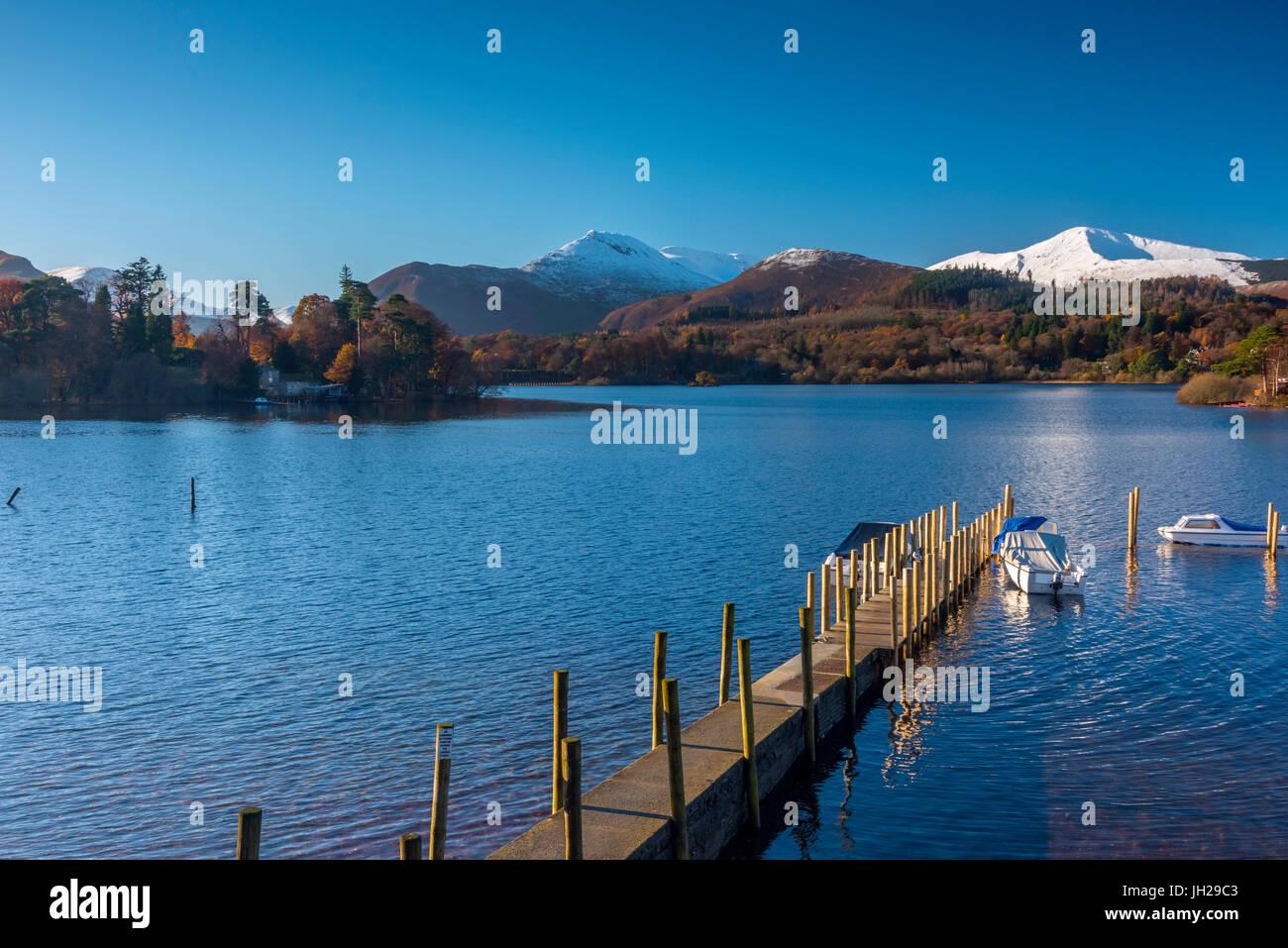 Derwentwater, Keswick, Lake District National Park, Cumbria, England, United Kingdom, Europe - Stock Image