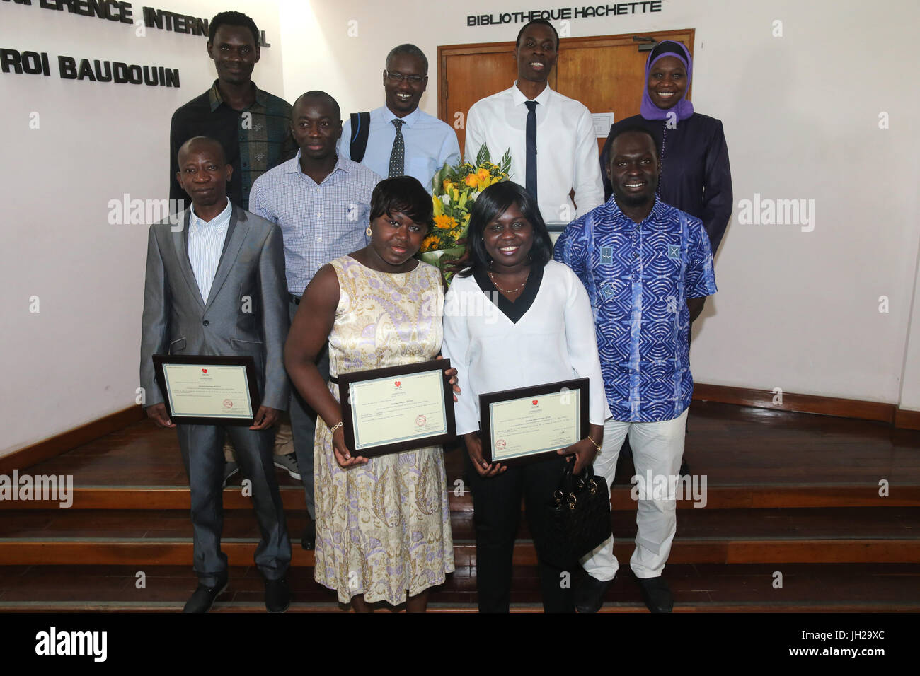 The Heart Institute.  Senegalese medical team trained to practice cardiac surgery. Graduation ceremony.  Ho Chi - Stock Image
