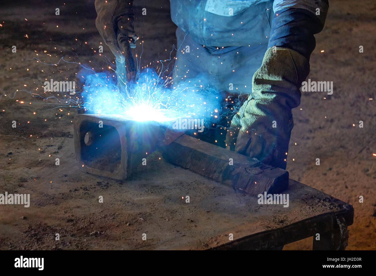 welds at the factory - Stock Image