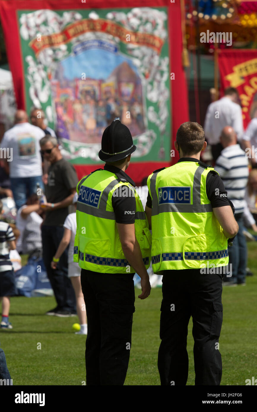 Police Officers On Duty At The Durham Miners Gala At Durham City