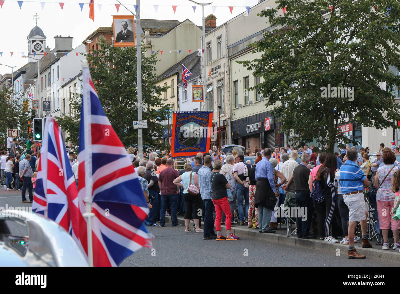Banbridge, County Down, Northern Ireland. 12th July 2017. The Twelfth of July was marked by this Orange Order Parade - Stock Image