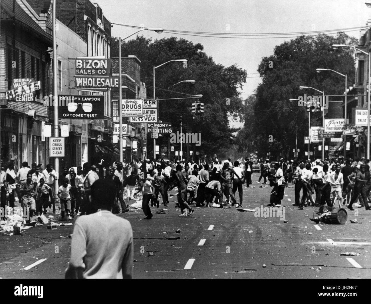 July 12, 2017 - FILE - This July 23rd marks the 50th Anniversary of The 1967 Detroit riot, also known as the 12th - Stock Image