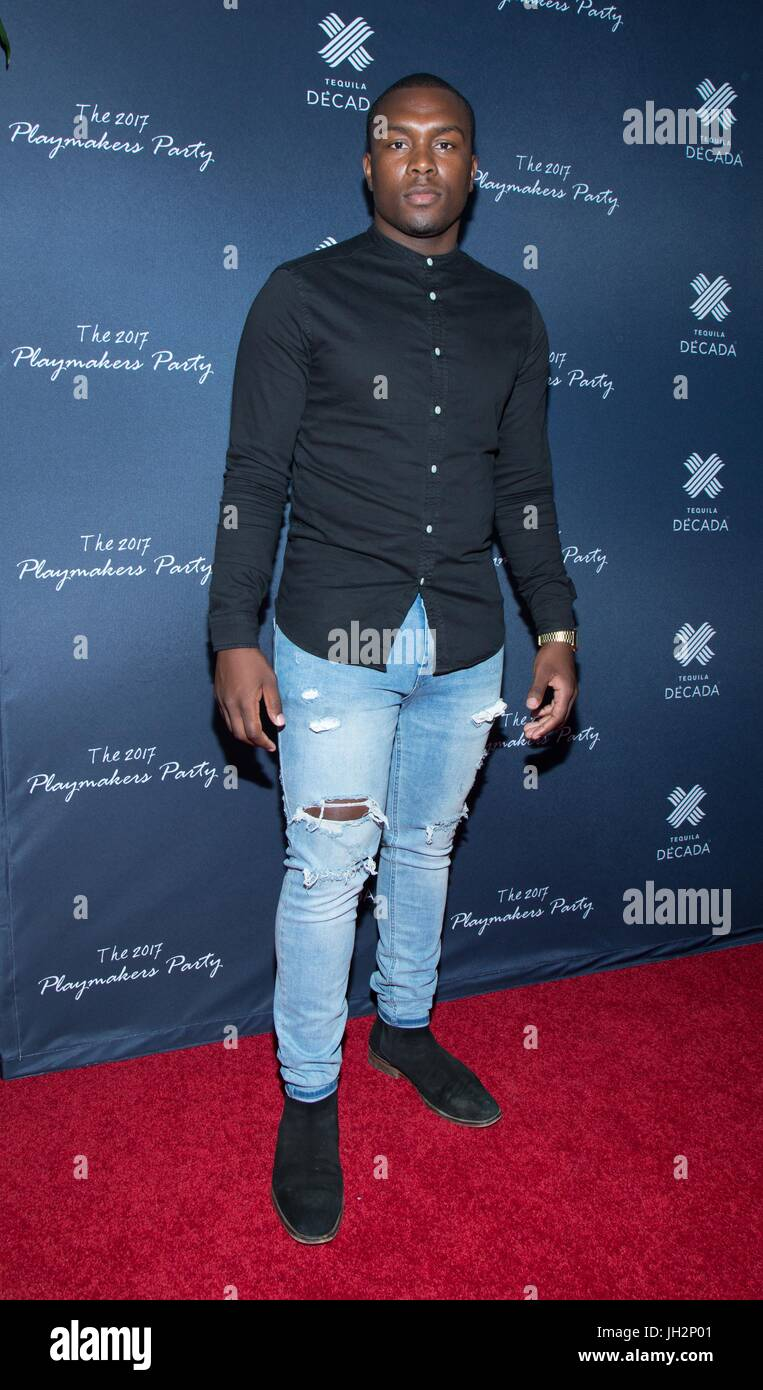 Marte Tyler attends 2017 Playmakers Party Viva Hollywood July 11,2017 Hollywood,California. Stock Photo