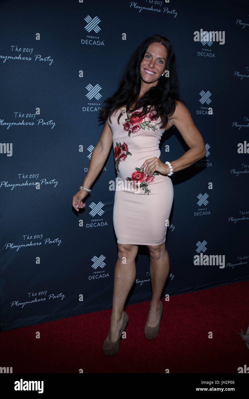 Traci Lynn Cowan attends 2017 Playmakers Party Viva Hollywood July 11,2017 Hollywood,California. Stock Photo