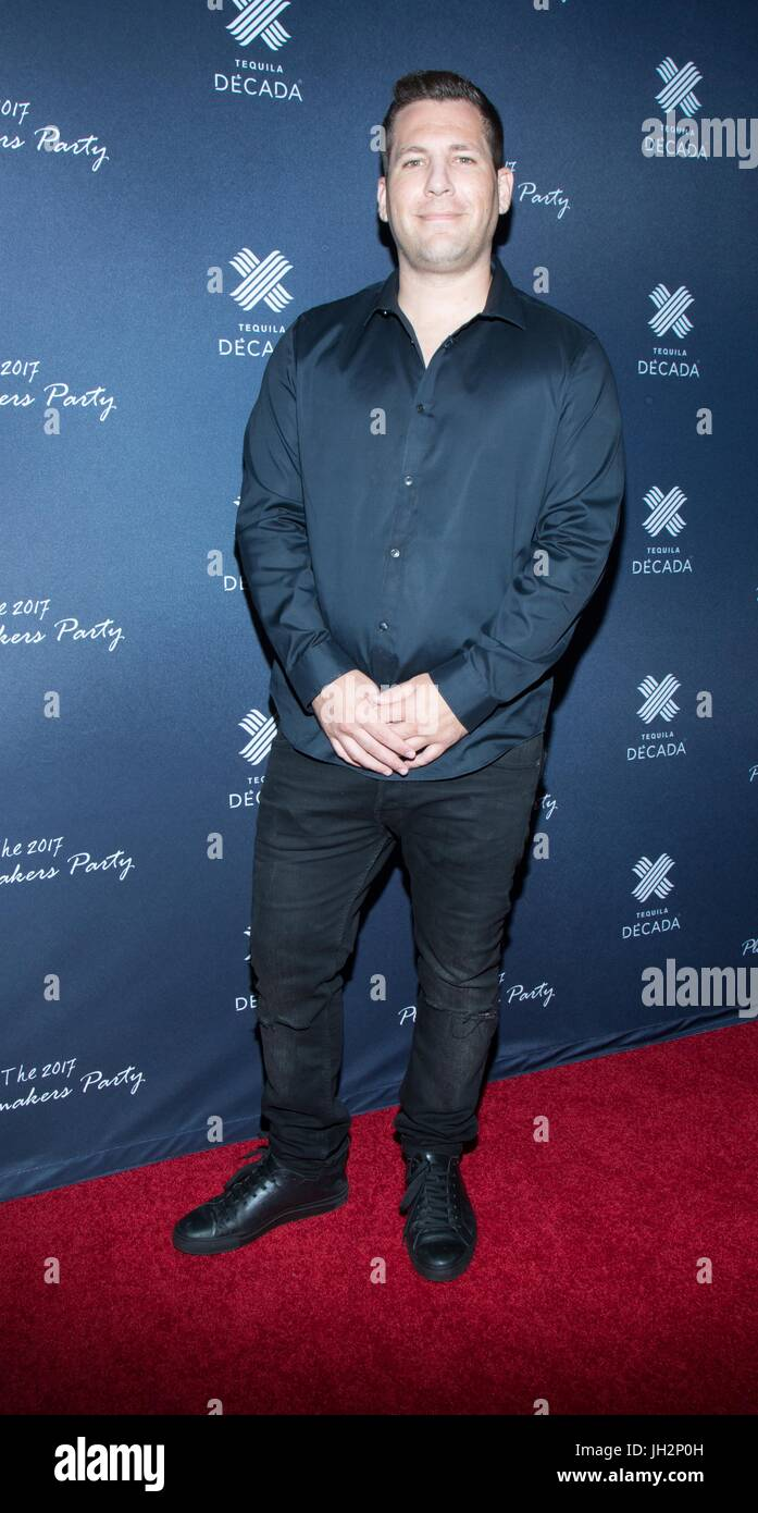 Travis Lubinsky attends the 2017 Playmakers Party at Viva Hollywood on July 11, 2017 in Hollywood, California. Stock Photo
