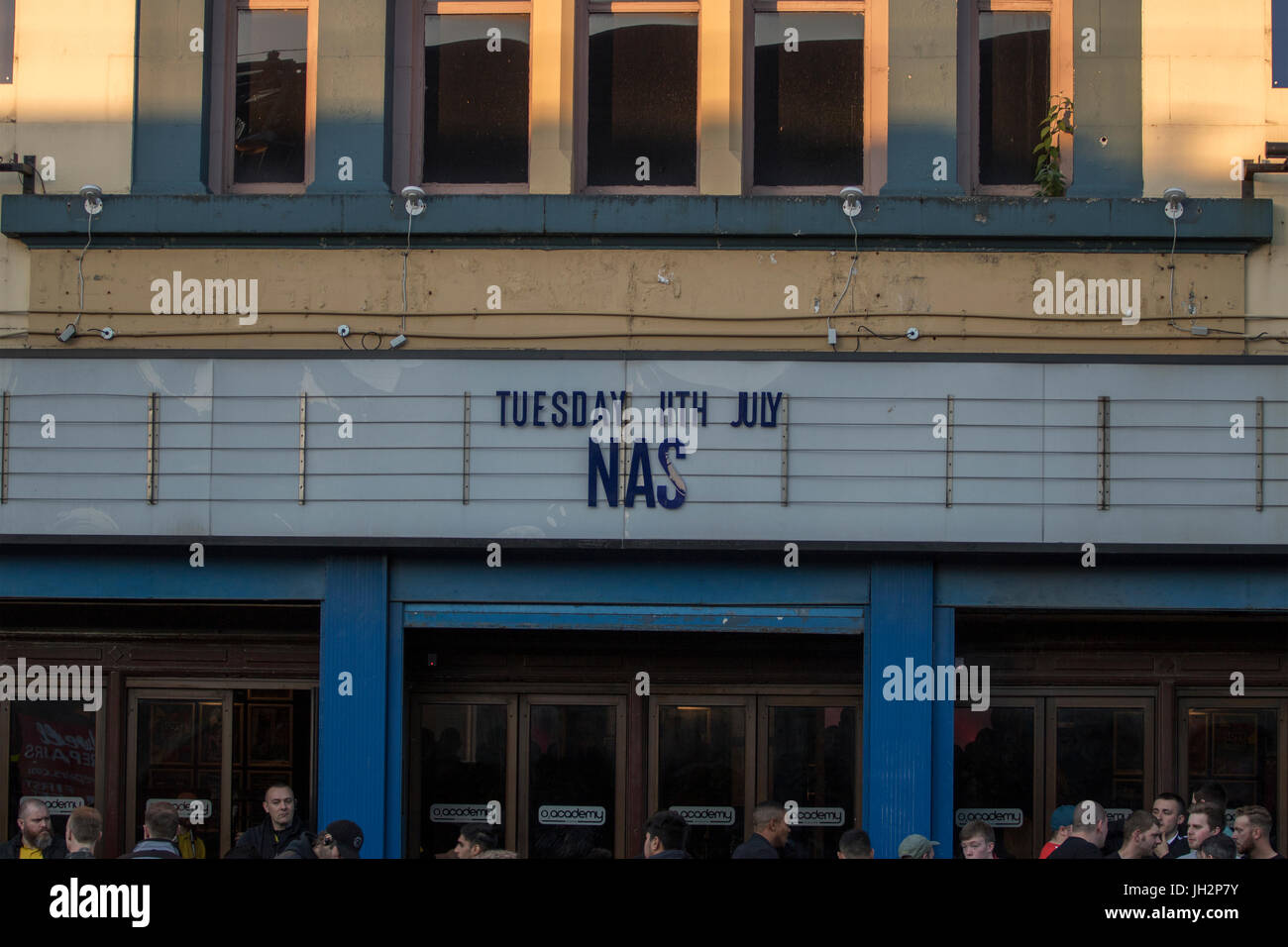 Glasgow, Scotland, UK. 11th July, 2017. Nas performs at the Glasgow O2 Academy during his four-date tour of the - Stock Image