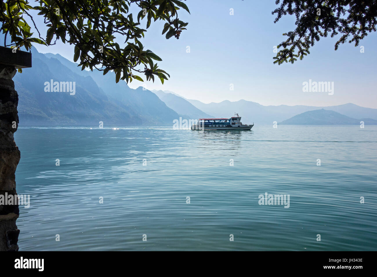 View from Riva Di Solto, Lago Iseo, Italy - Stock Image