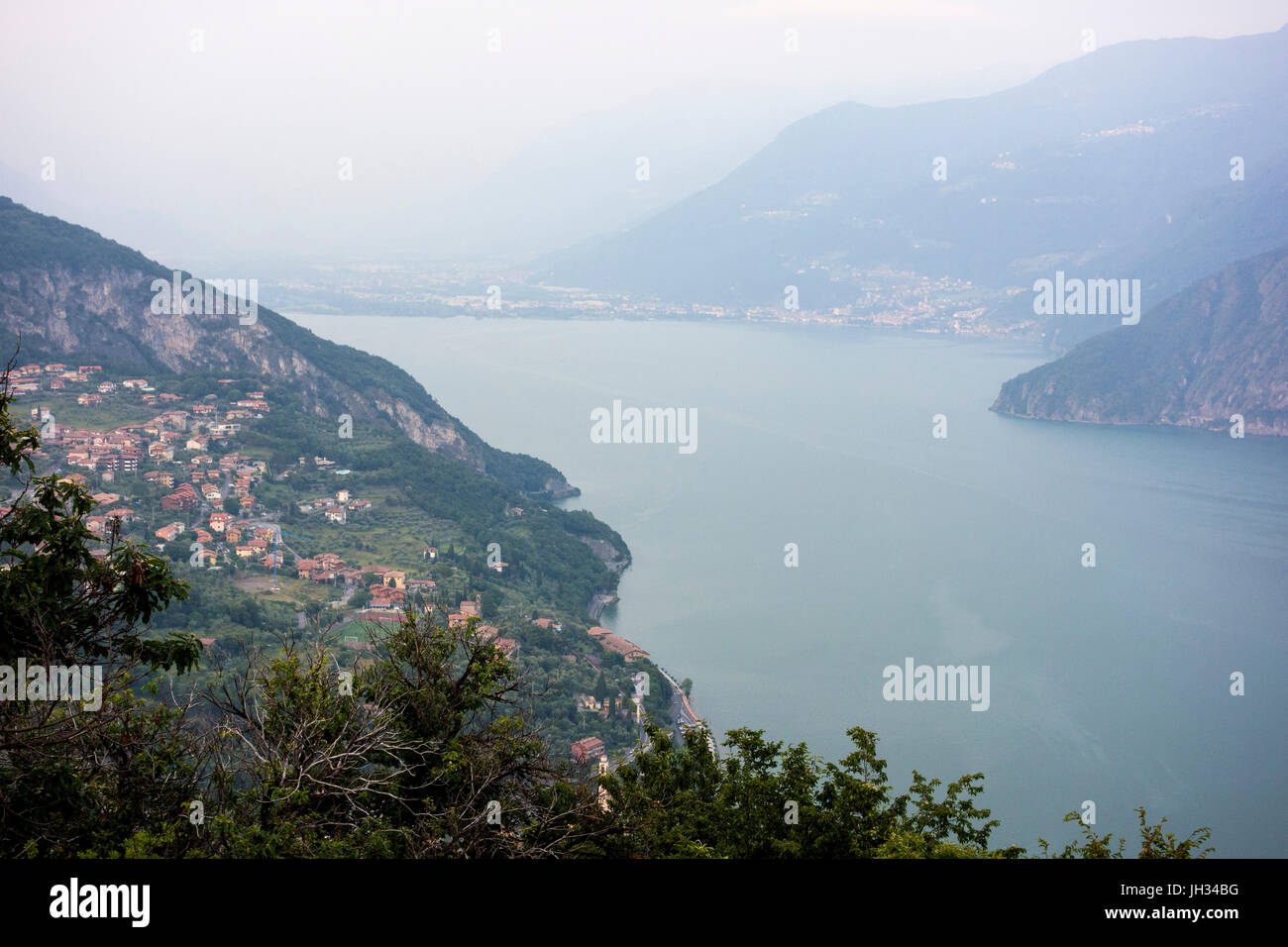 Lago Iseo, Italy - Stock Image