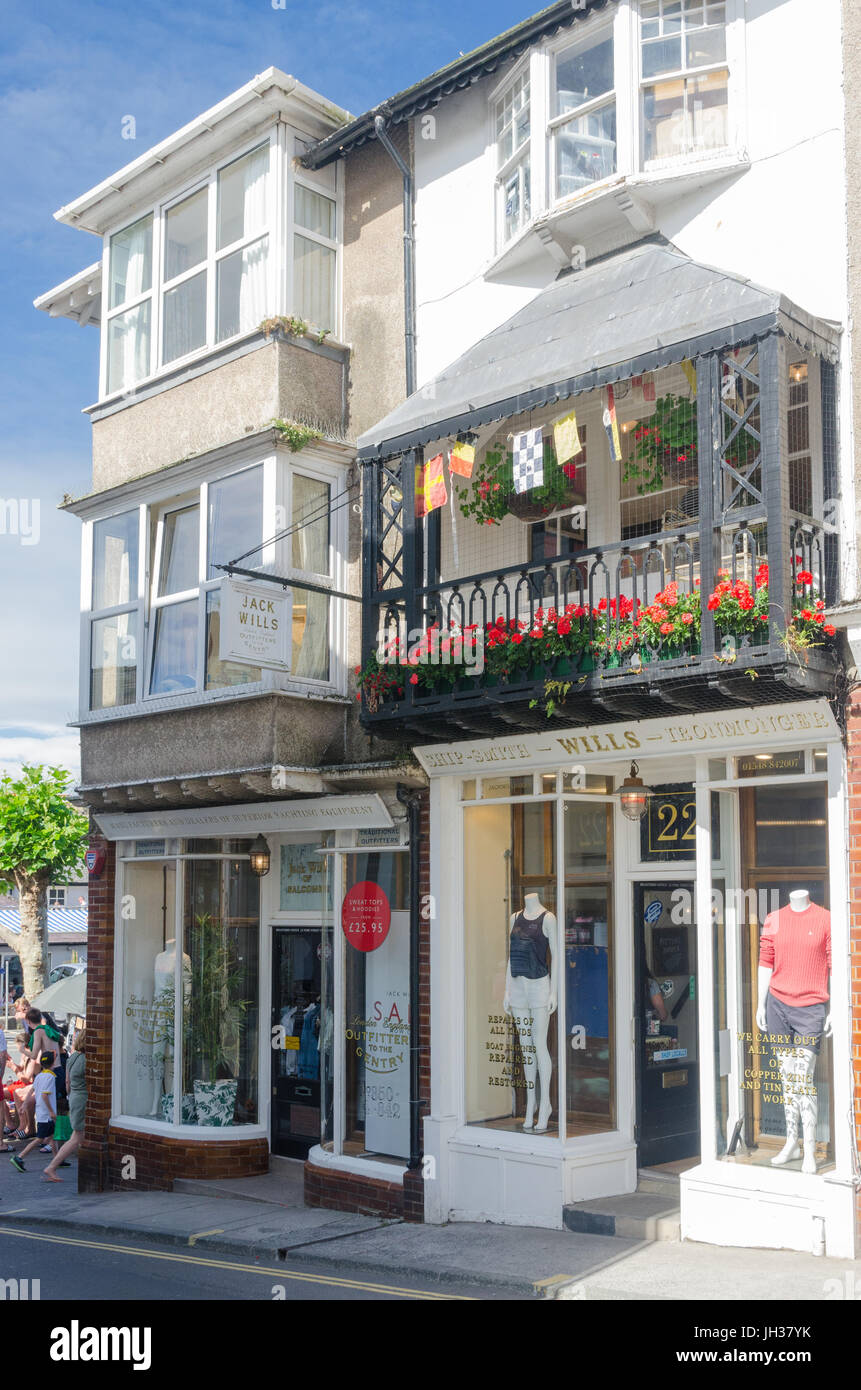 The original Jack Wills clothing shop in Fore Street, Salcombe, Devon - Stock Image