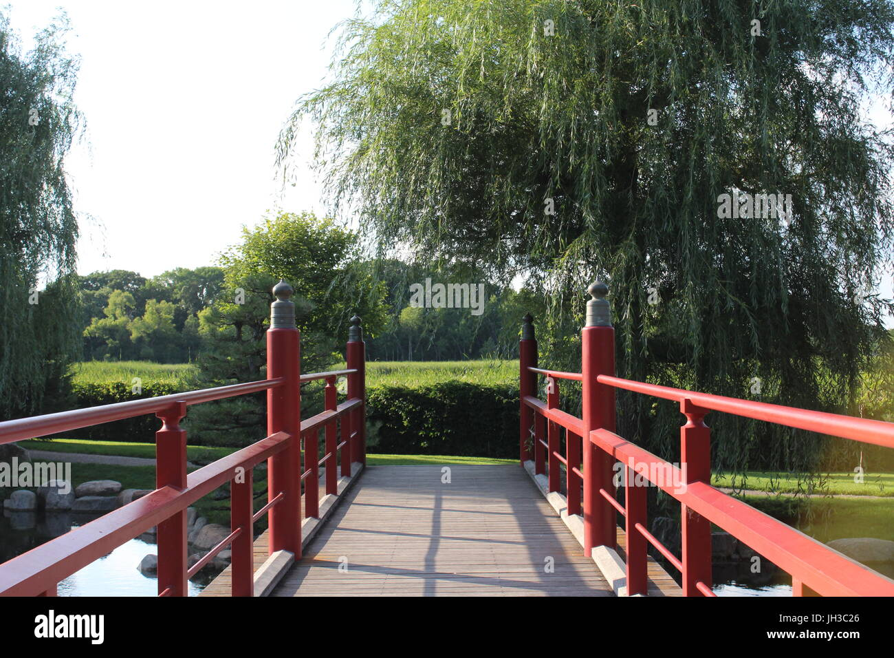 At Normandale's Japanese Garden - Stock Image